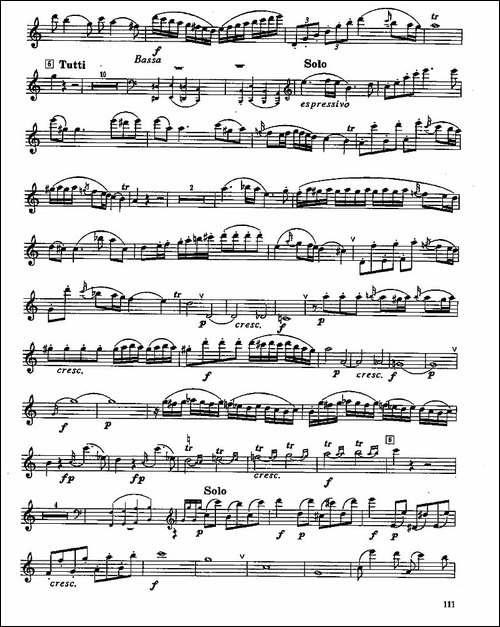长笛七级考级曲谱-第四-长笛五线谱 长笛谱