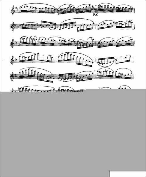 长笛八级考级曲谱-第一、二-长笛五线谱 长笛谱