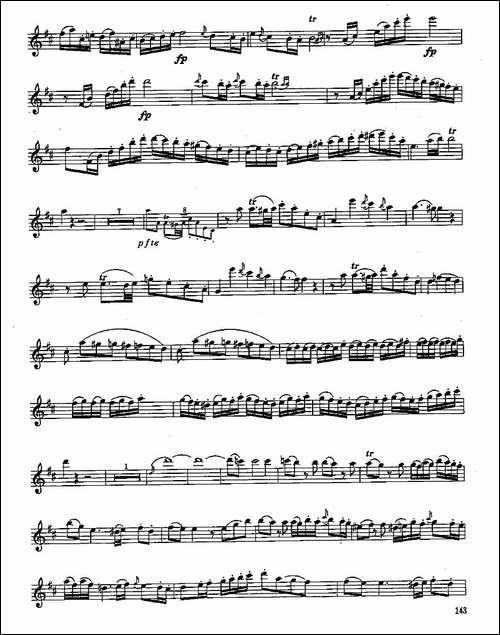 长笛八级考级曲谱-第四1—2-长笛五线谱|长笛谱