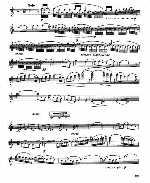 长笛九级考级曲谱-第四—4-长笛五线谱|长笛谱
