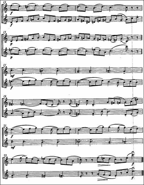 C歌谣-Ballade-in-C-二重奏-长笛五线谱|长笛谱