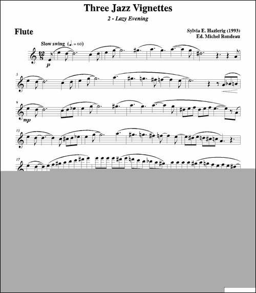 Three-jazz-vignettes-第二乐章-三重奏长笛分-长笛五线谱|长笛谱