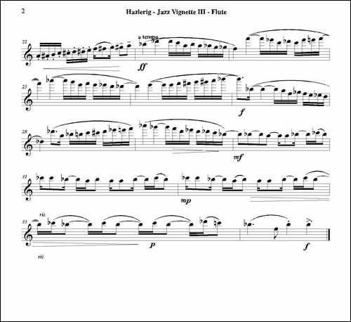 Three-jazz-vignettes-第三乐章-三重奏长笛分-长笛五线谱 长笛谱