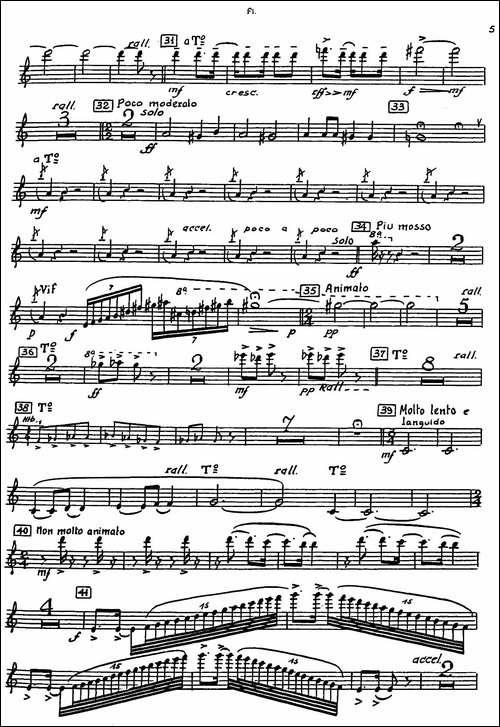 Nonetto-长笛分谱-长笛五线谱|长笛谱