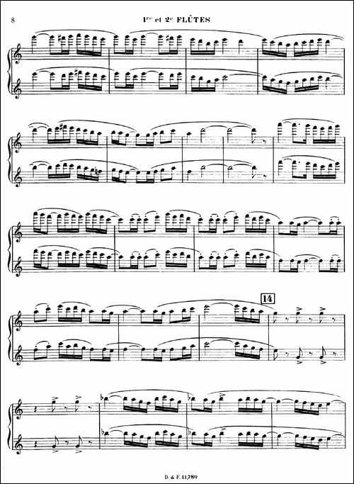 BOLERO-波莱罗-交响乐长笛分谱-长笛五线谱|长笛谱