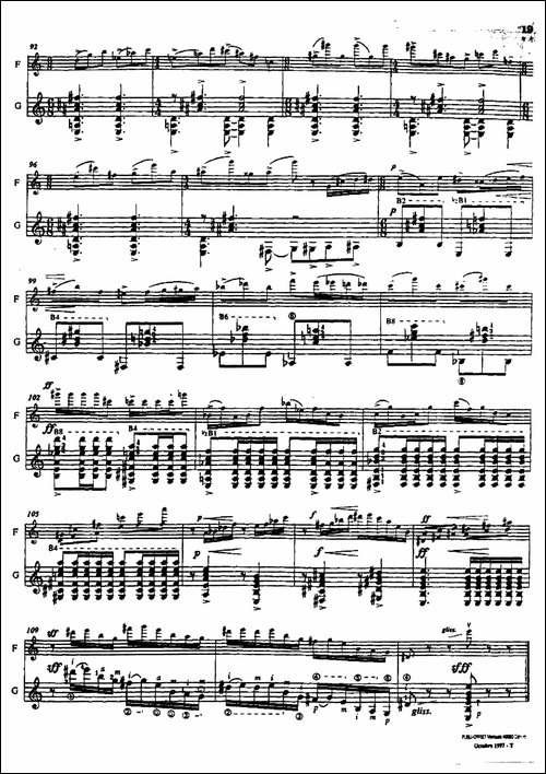 Histoire-du-Tango:4、Concerto-d'aujourd-长笛五线谱 长笛谱