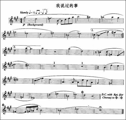 我说过的事-长笛五线谱 长笛谱