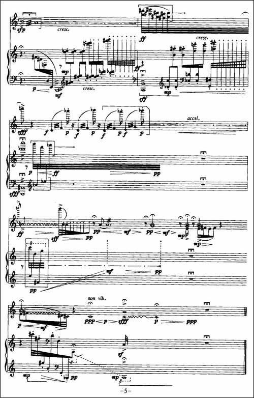 遐思-长笛+钢琴-长笛五线谱 长笛谱