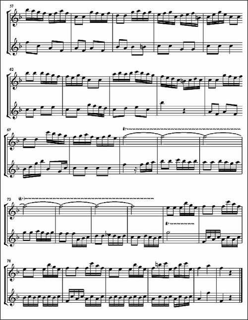 Allegro-for-Musical-Clock-二重奏-长笛五线谱|长笛谱