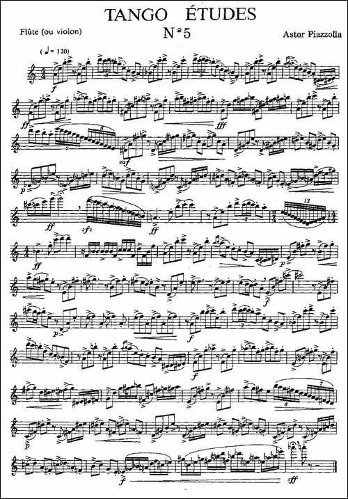 Tango-Etudes-之五-长笛五线谱|长笛谱