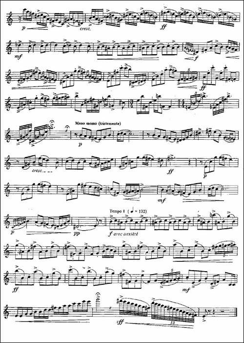 Tango-Etudes-之六-长笛五线谱|长笛谱