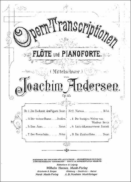Opern-Transcriptionen.Op.45-2-长笛五线谱|长笛谱