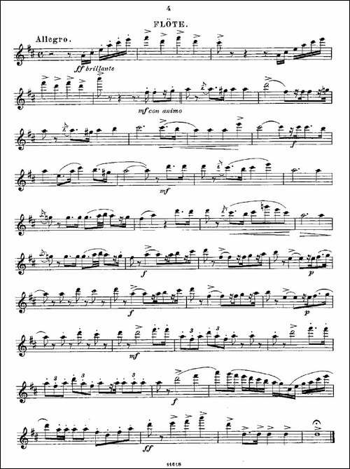 Opern-Transcriptionen.Op.45-3-长笛五线谱|长笛谱