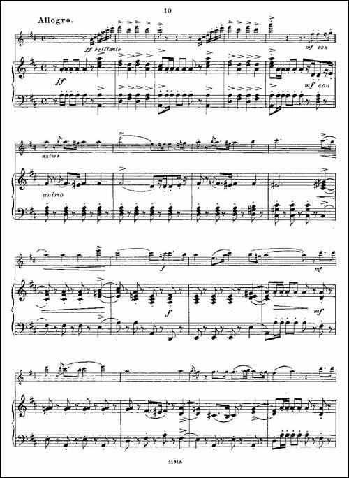 Opern-Transcriptionen.Op.45-3-长笛+钢琴伴-长笛五线谱|长笛谱