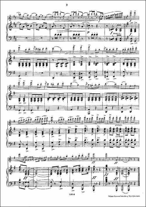 Opern-Transcriptionen.Op.45-4-长笛+钢琴伴-长笛五线谱 长笛谱