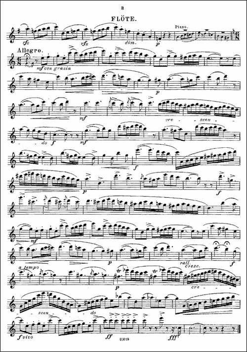 Opern-Transcriptionen.Op.45-7-长笛五线谱 长笛谱