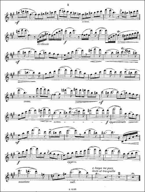 Wiedersehen.Op.46-长笛五线谱|长笛谱