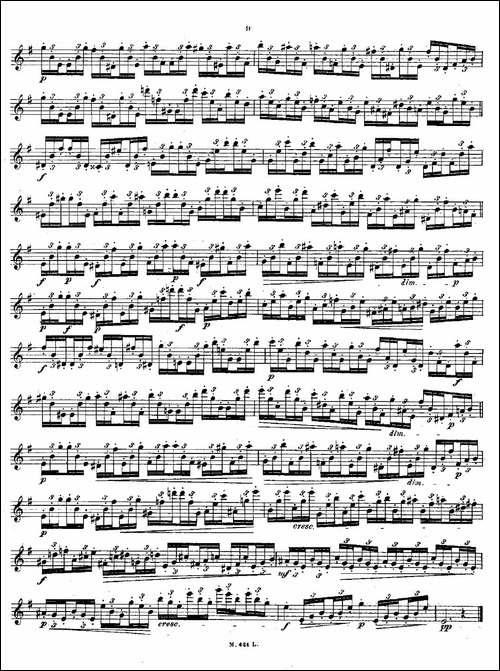 24首长笛练习曲-Op.15-之1—5-长笛五线谱|长笛谱