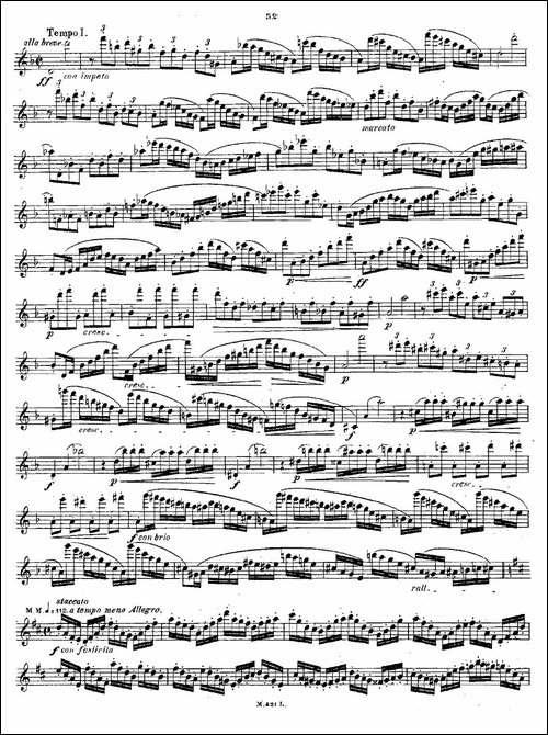 24首长笛练习曲-Op.15-之21—24-长笛五线谱|长笛谱