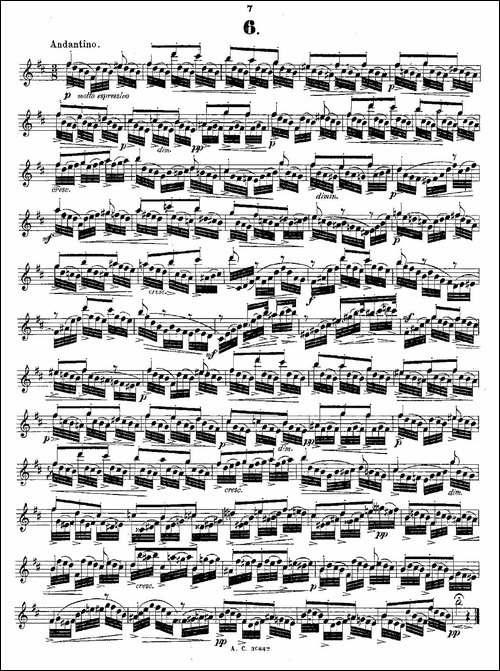 24首长笛练习曲-Op.21-之1—12-长笛五线谱|长笛谱