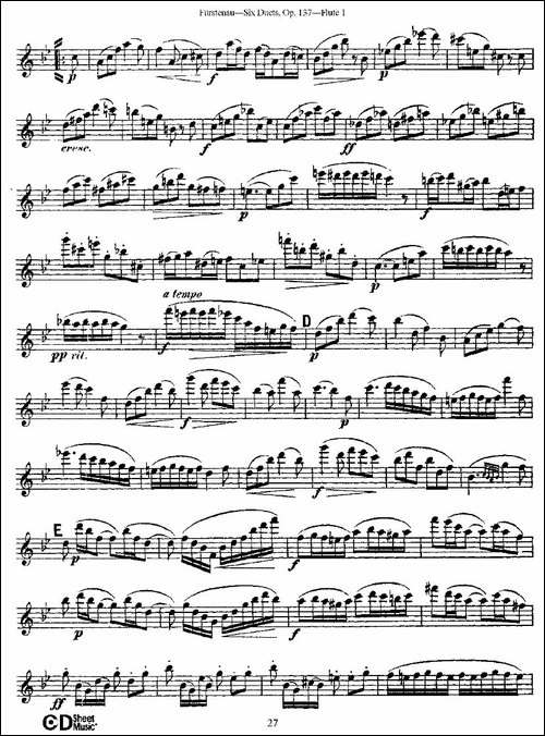 Six-Duets,-Op.137-之五-二重奏-六首作品-137-长笛五线谱 长笛谱