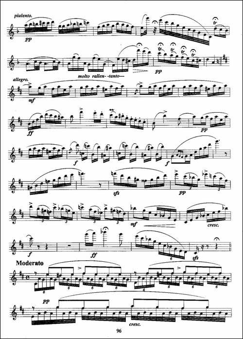 匈牙利田园幻想曲-长笛五线谱|长笛谱