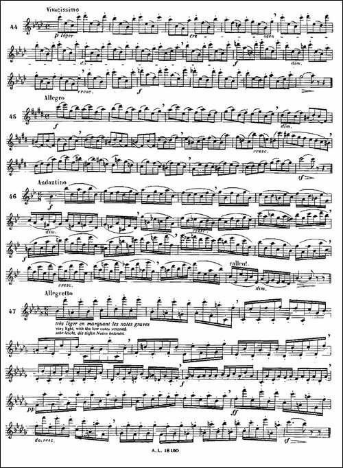 moyse-100首练习曲之41—49-长笛五线谱|长笛谱