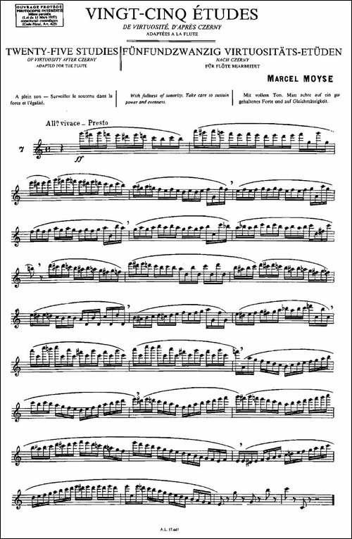 Moyse-25-Studies-after-Czerny-flute-[7]-25-长笛五线谱 长笛谱