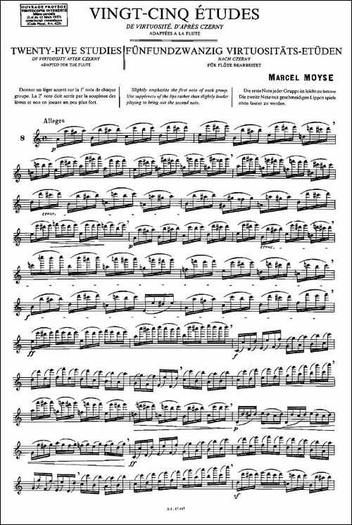 Moyse-25-Studies-after-Czerny-flute-[8]-25-长笛五线谱|长笛谱