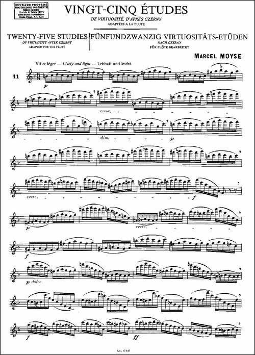 Moyse-25-Studies-after-Czerny-flute-[11]-2-长笛五线谱|长笛谱