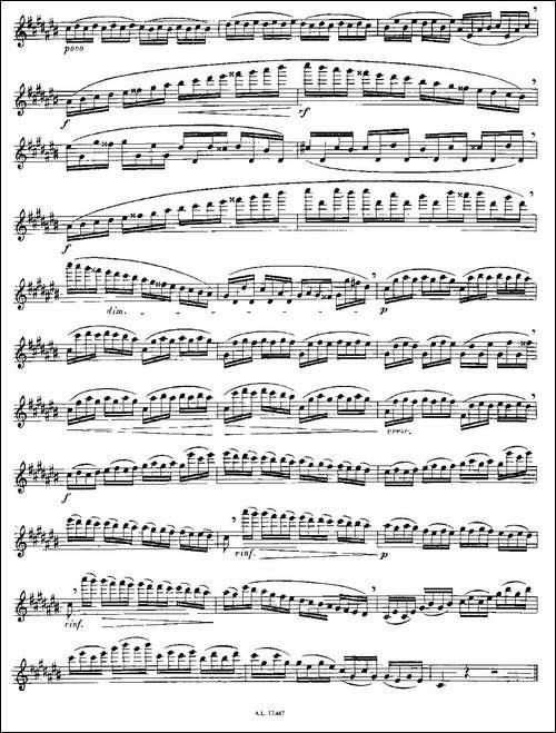 Moyse-25-Studies-after-Czerny-flute-之14-2-长笛五线谱|长笛谱