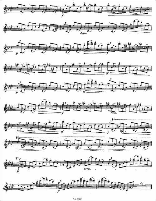 Moyse-25-Studies-after-Czerny-flute-之18-2-长笛五线谱|长笛谱
