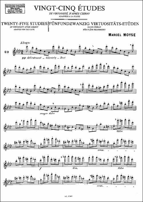 Moyse-25-Studies-after-Czerny-flute-之20-2-长笛五线谱 长笛谱