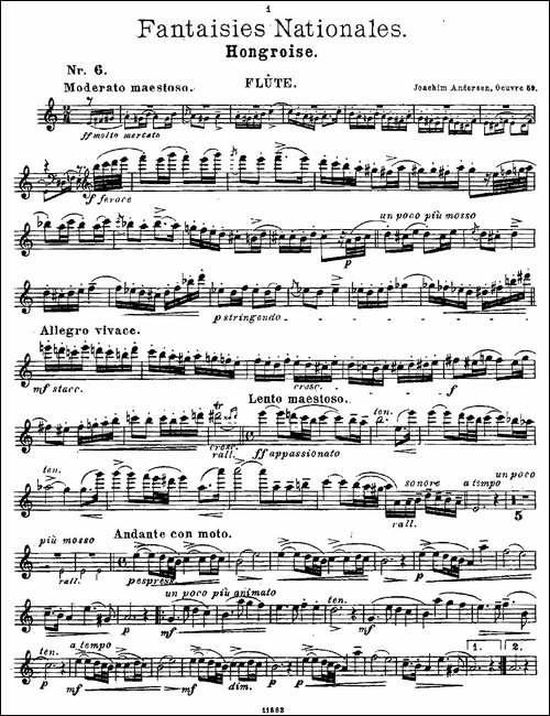 Fantaisies-nationales.-Op.-59,-6.-长笛五线谱|长笛谱