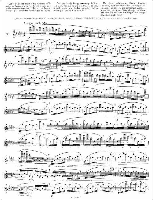 12首大技巧练习曲之7-长笛五线谱 长笛谱