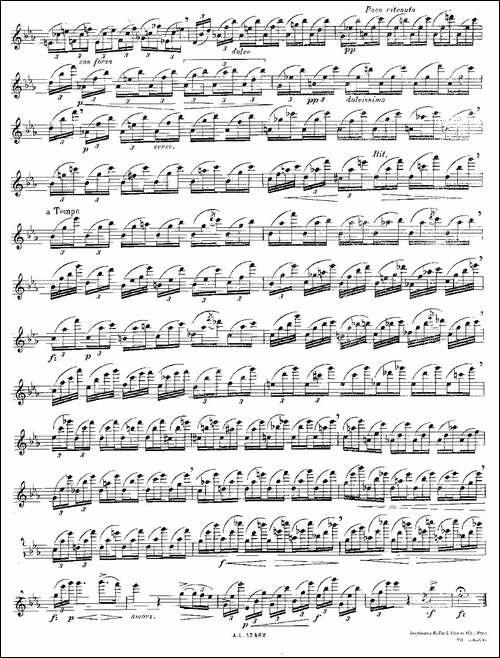 12首大技巧练习曲之12-长笛五线谱|长笛谱