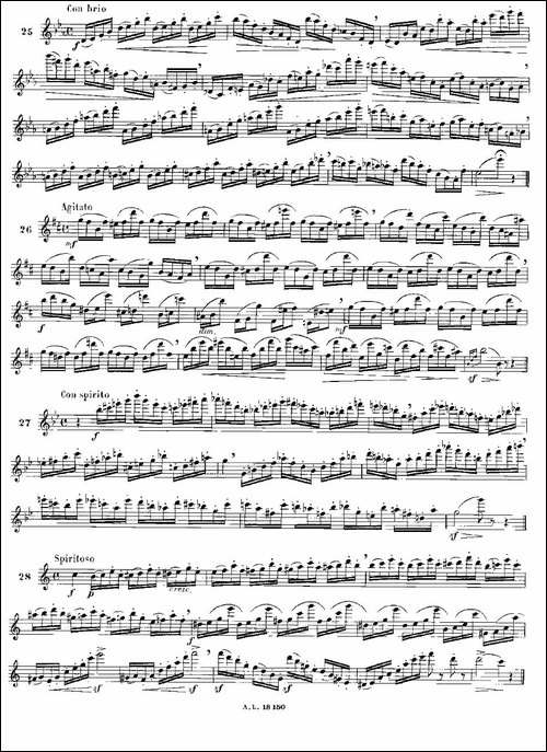 简易音阶练习100首之20-36-moyse-100-studies--长笛五线谱|长笛谱
