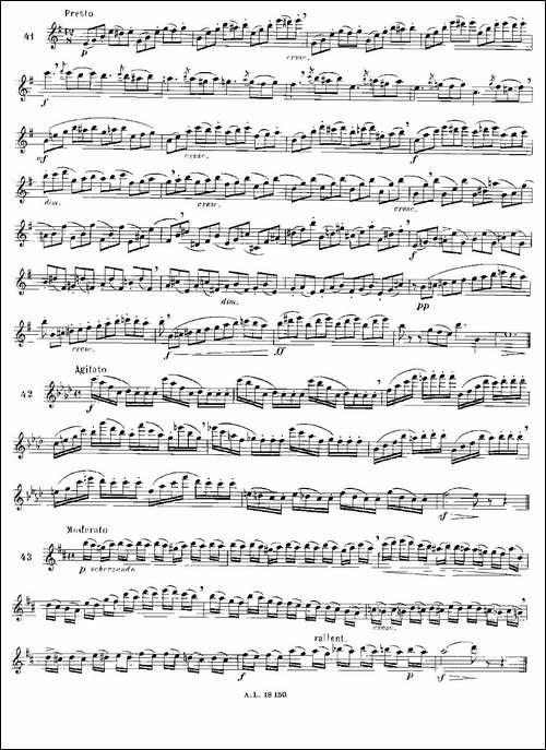 简易音阶练习100首之37-49-moyse-100-studies--长笛五线谱|长笛谱