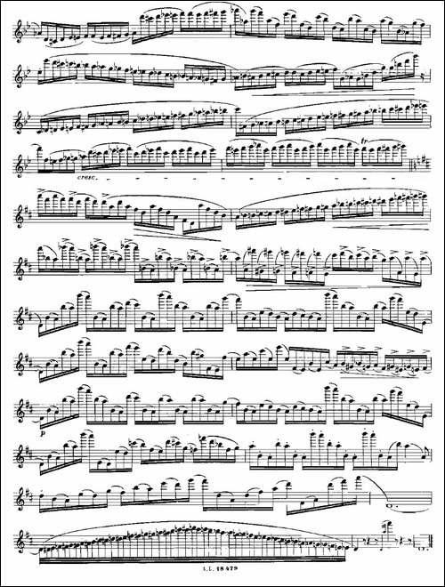 基于维尼亚夫斯基练习曲的10首长笛练习曲之6-Mo-长笛五线谱|长笛谱