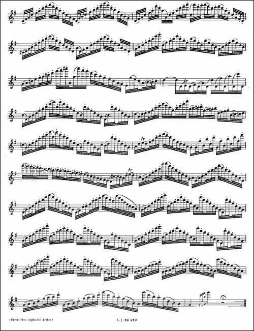 基于维尼亚夫斯基练习曲的10首长笛练习曲之10-M-长笛五线谱|长笛谱