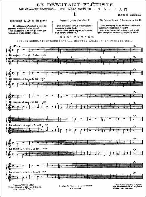 初级练习之1-Alphonse-Ludec-Debutant-Flutis-长笛五线谱 长笛谱