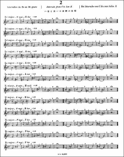 初级练习之2-Alphonse-Ludec-Debutant-Flutis-长笛五线谱|长笛谱