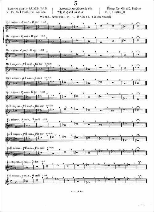 初级练习之5-Alphonse-Ludec-Debutant-Flutis-长笛五线谱|长笛谱