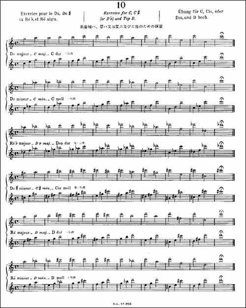 初级练习之10-Alphonse-Ludec-Debutant-Fluti-长笛五线谱|长笛谱