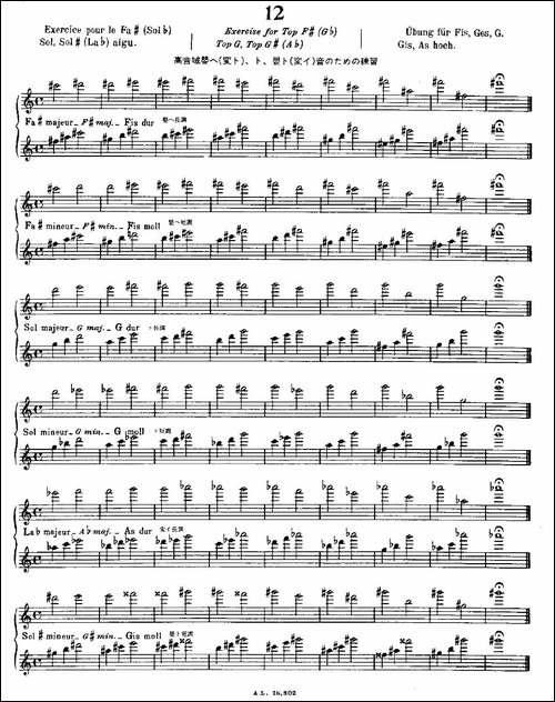 初级练习之12-Alphonse-Ludec-Debutant-Fluti-长笛五线谱|长笛谱
