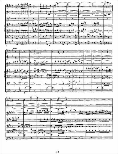 Concerto-in-D-for-Flute,-K.314-D大调长笛协-长笛五线谱 长笛谱