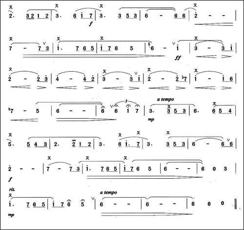 我俩时光-电影《殉情记》主题曲-笛箫间谱 笛箫谱