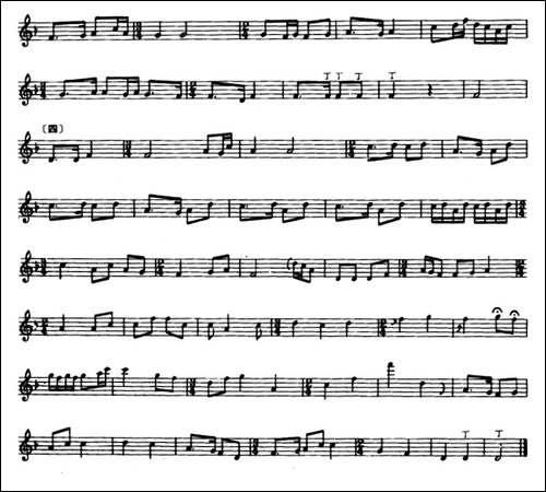 平沙落雁-箫-张维良编曲、五线谱-笛箫简谱 笛箫谱