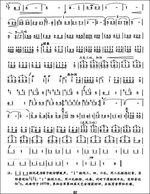 喜庆-胡结续作曲版-笛箫简谱|笛箫谱