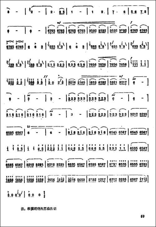 风谷机伴我唱丰收-笛箫简谱|笛箫谱